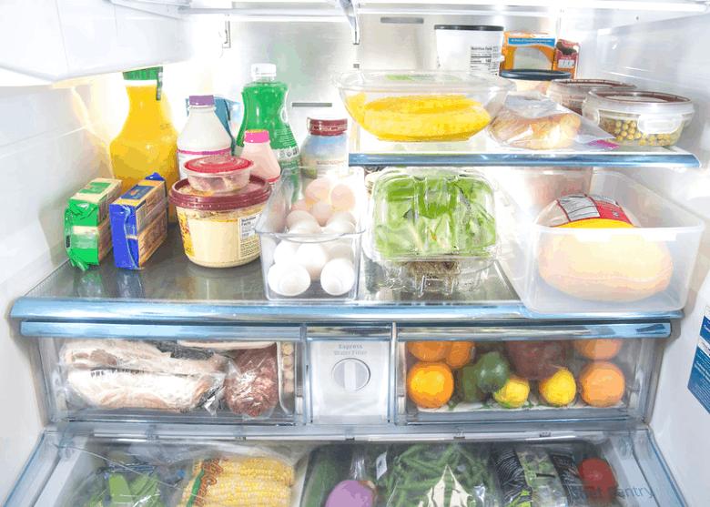 Organized Kitchen Refrigerator